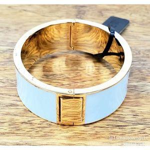 J. Crew enameled cuff bracelet baby blue